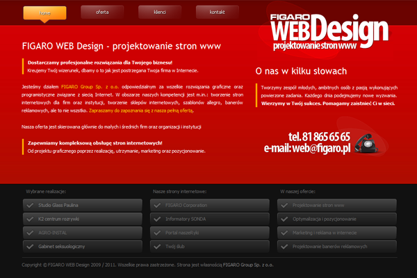 FIGARO WEB Design: Realizacja 4